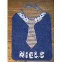 Bavoir cravate voitures (sans prénom)