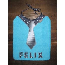 Bavoir cravate rayée (sans prénom)
