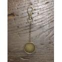 Porte-clé avec bordure bronze