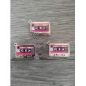 Cassette audio argenté