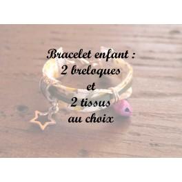 Bracelet enfant 2 breloques (sans prénom)